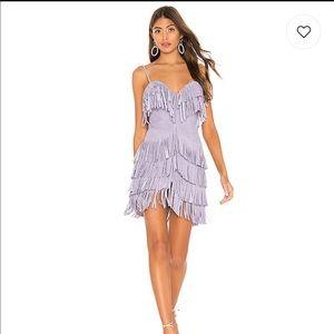 Plume suede fringe mini dress NBD by Revolve